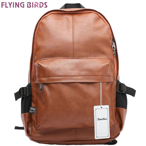 FLYING BIRDS Men/Women's travel bags men rucksack school bags leather high quality  backpacks teenage LM0330