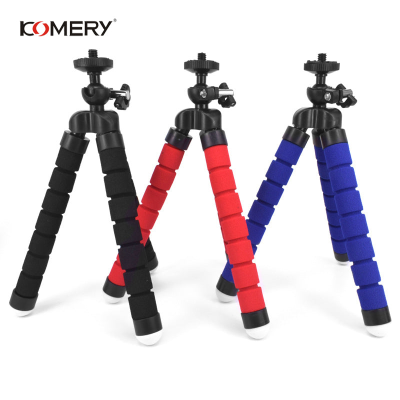 KOMERY Mini Flexible Sponge Octopus Tripod For iPhone Xiaomi Huawei Smartphone Tripod for Gopro Camera With Phone Clip Holder