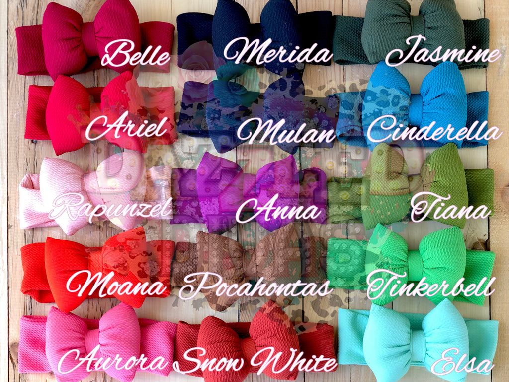Princess Puff Bow Headbands
