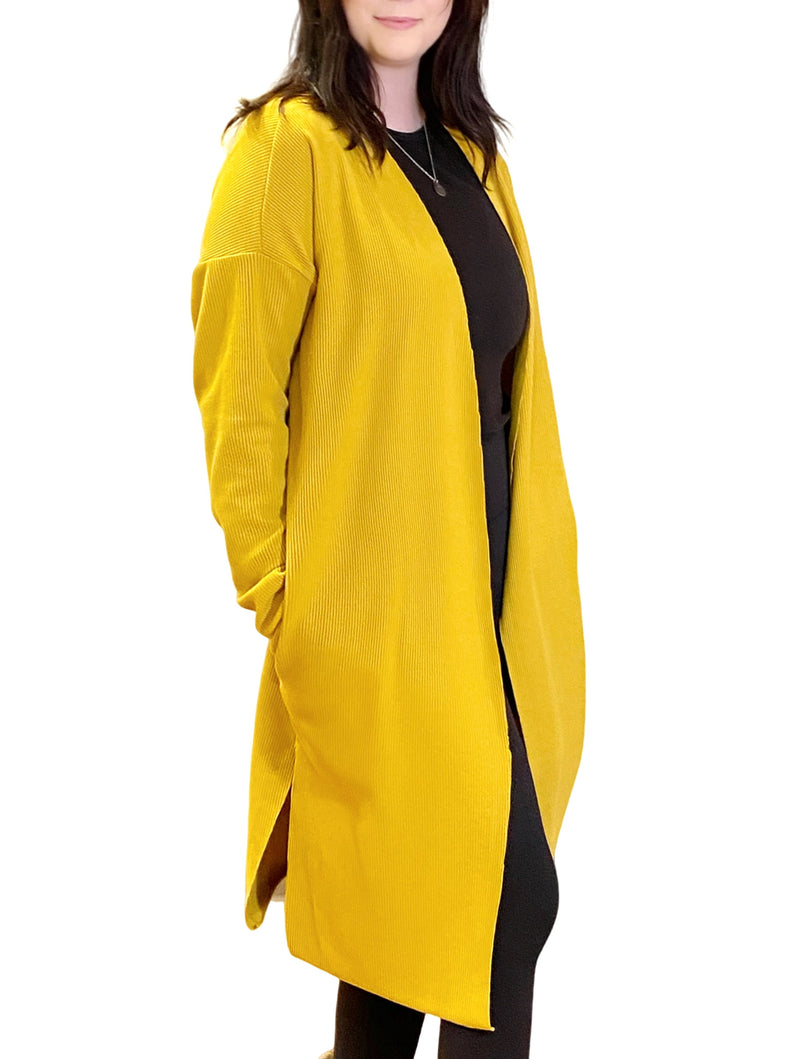 LaVieLente Women's Mustard Yellow Winter Cape
