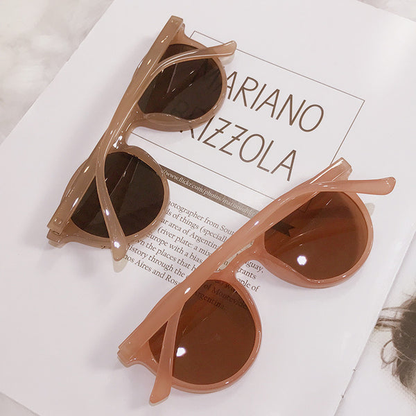 Vintage Style Round Resin Sunglasses