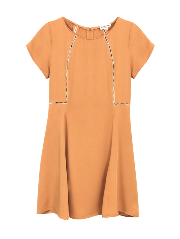 LaVieLente Women's Yellow Peek-Aboo Dress