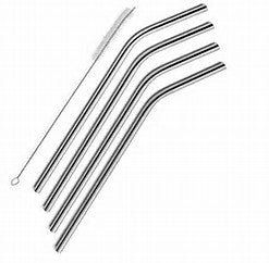 Bent Stainless Steel Straws