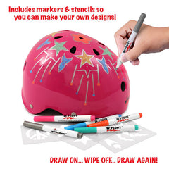 Wipeout Dry Erase Helmet with Description (Pink)