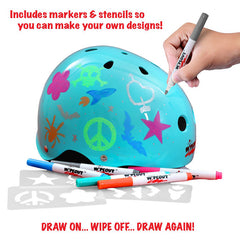 Wipeout Dry Erase Helmet with Description (Teal)