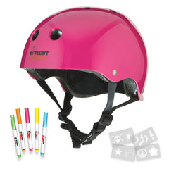 Wipeout Dry Erase Helmet With Markers and Stencils (Pink)