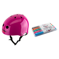 Wipeout-Dry-Erase-Helmet-With-Markers (Pink)