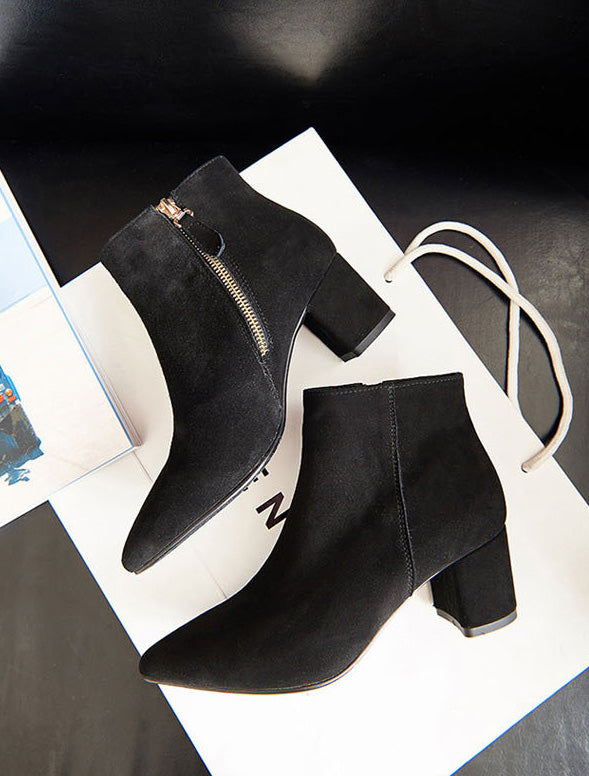 beautiful zipper ankle boots
