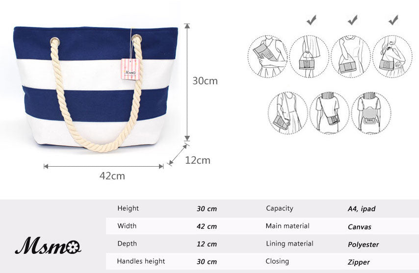 canvas tote bag sizes and directions