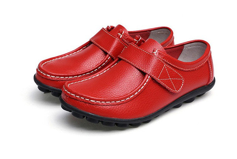 how wonderful red leather womens shoes with black rubber sole nodules