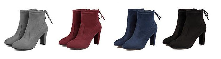 leather ankle boots with lace-up come in 4 beautiful colours