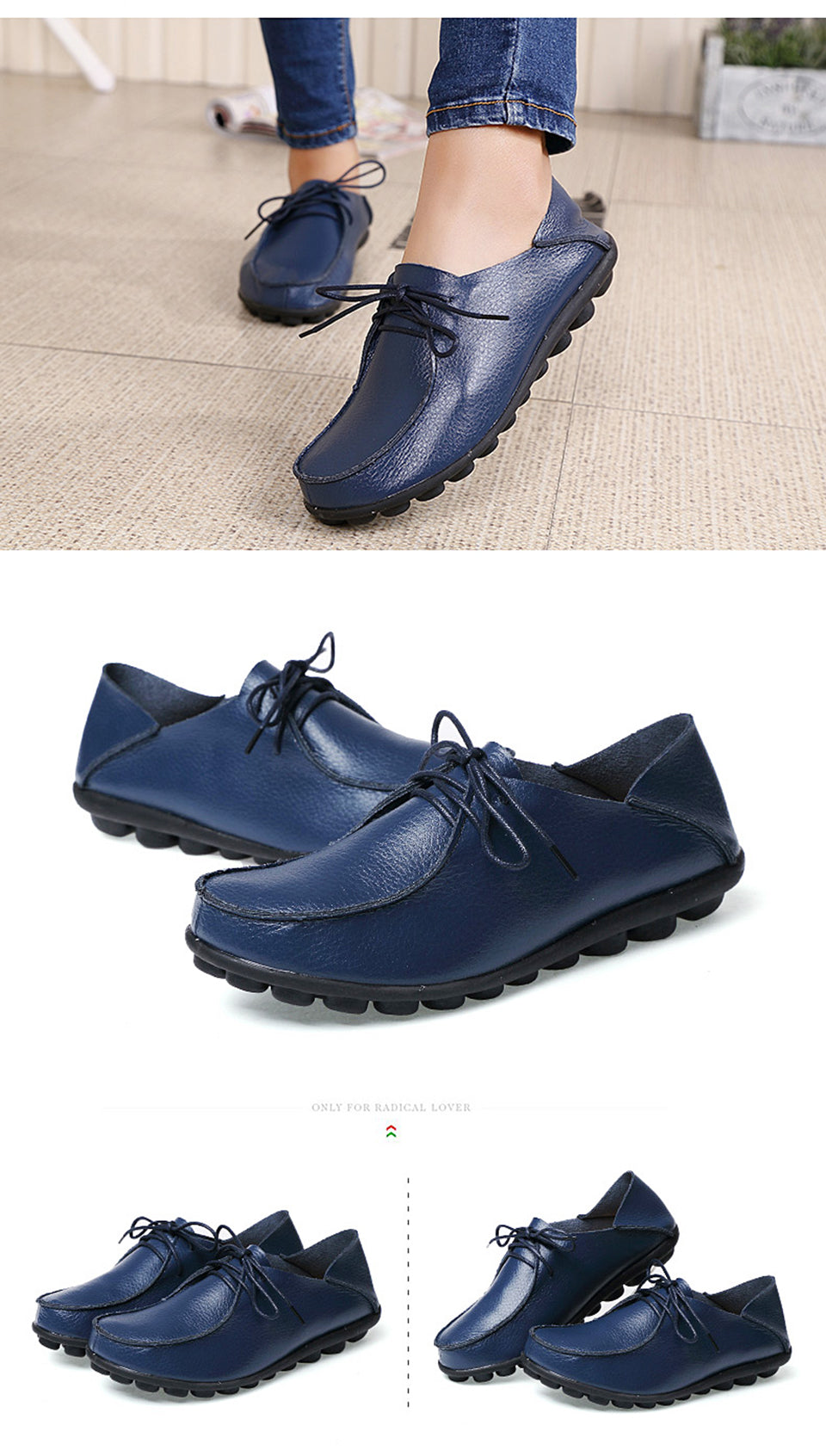 more dark blue lace up leather shoes with black nodulated grippy base 01
