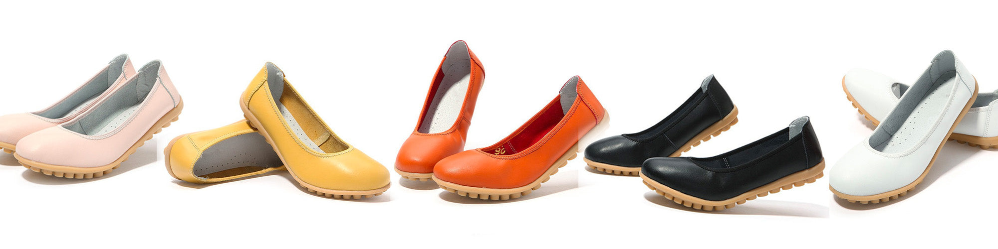 colourful range of the covered toe nodule shoes