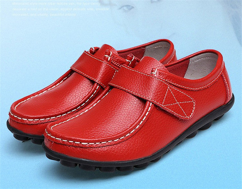 so good red leather womens shoes with black rubber sole nodules nice closeup looks great