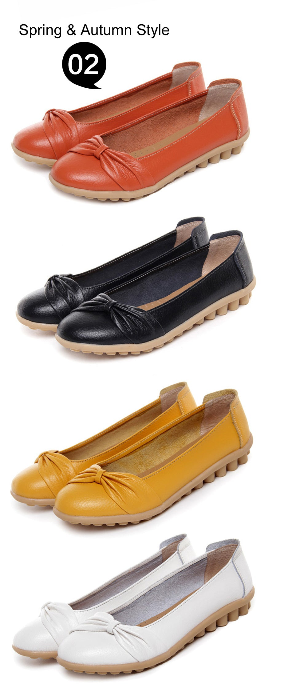 spring and autumn range of bowtie toe shoes