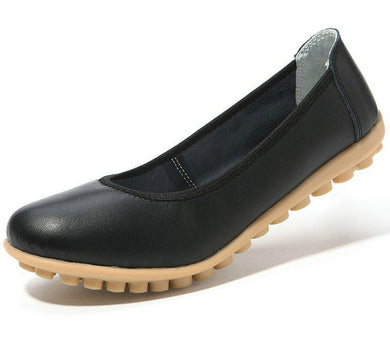 black leather winter nodule shoes for women who want comfortable feet