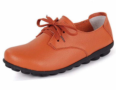 Orange Classic Lace Up with Black Nodule Sole