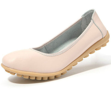 pink leather winter nodule shoes for women who want comfortable feet