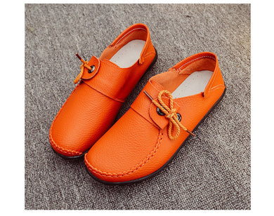 Moccasins Flats Lace-Up Shoes