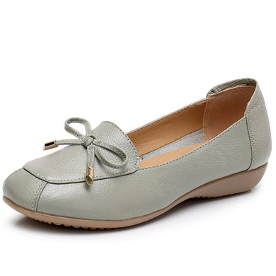 Low Heel Bowknot Hollow