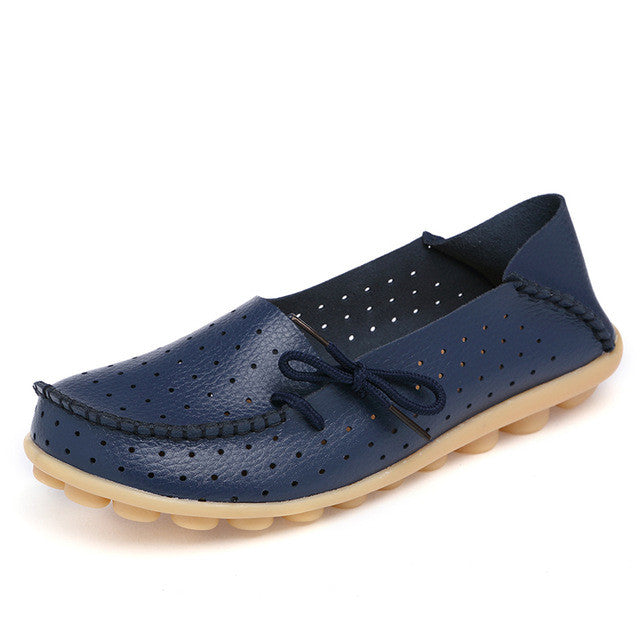 Dark Blue Breathable Side Lacing
