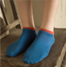 Candy Color Socks with Contrasting Cuff
