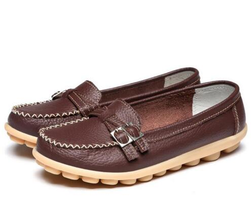 Brown Double Buckle Nodule Shoe