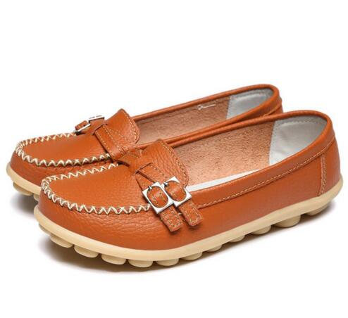 Orange Double Buckle Nodule Shoe