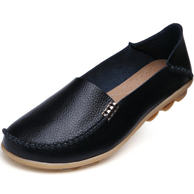 Black Nodule Shoes with Metallic Fixing on Each Side