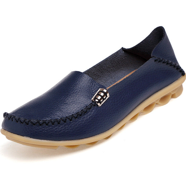 Dark Blue Nodule Shoes with Metallic Fixing on Each Side