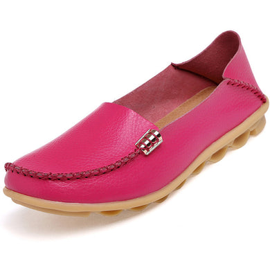 Pink Nodule Shoes with Metallic Fixing on Each Side