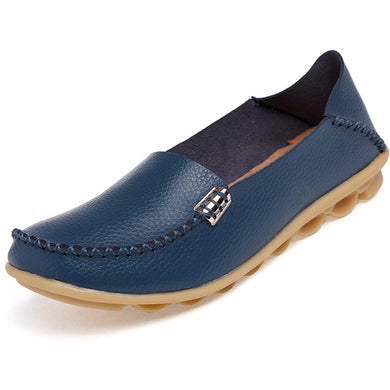 Blue Nodule Shoes with Metallic Fixing on Each Side