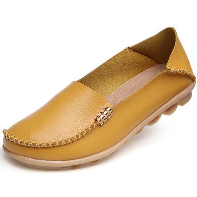 Yellow Nodule Shoes with Metallic Fixing on Each Side