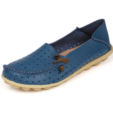 Blue Breathable Nodule Shoe with Lace Feature