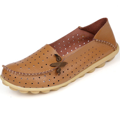 Brown Breathable Nodule Shoe with Lace Feature