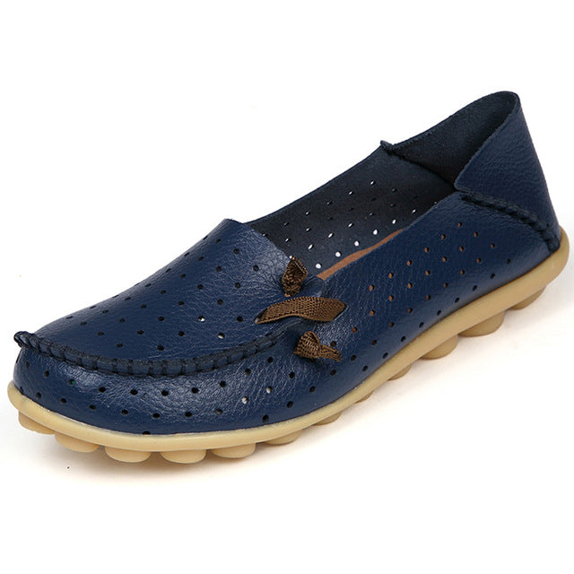 Dark Blue Breathable Nodule Shoe with Lace Feature
