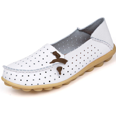White Breathable Nodule Shoe with Lace Feature