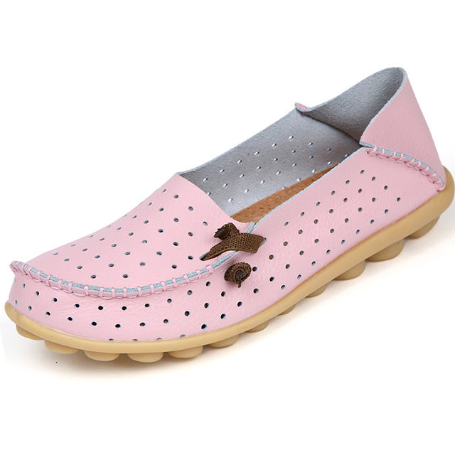 Pink Breathable Nodule Shoe with Lace Feature