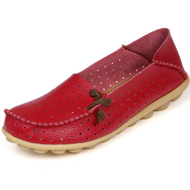 Red Breathable Nodule Shoe with Lace Feature