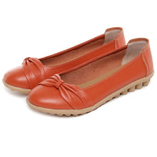 Orange Bowtie Toe Nodule Shoes