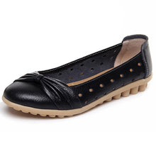 Black Bowtie Toe Breathable Nodule Shoes