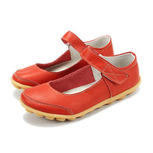 Red Mary Jane Nodule Shoe