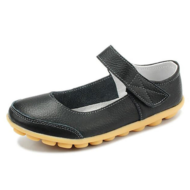 Black Mary Jane Nodule Shoe