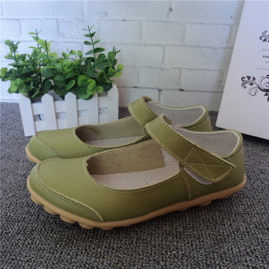 Green Mary Jane Nodule Shoe