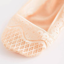 Cotton Lace Short Ankle Socks with Grip Pads