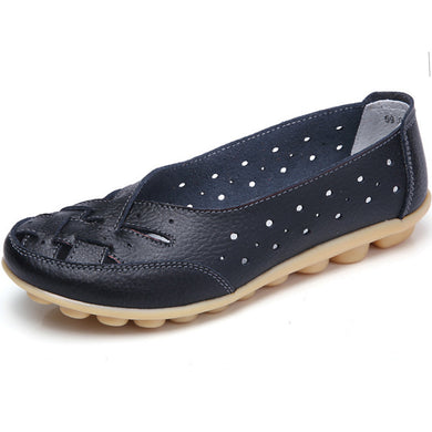 Dark Blue Summer Breathable Lattice Nodule Shoes