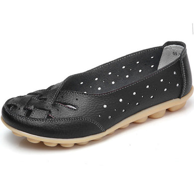 Black Summer Breathable Lattice Nodule Shoes