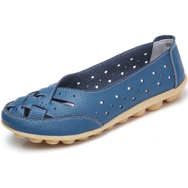 Blue Summer Breathable Lattice Nodule Shoes