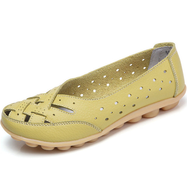 Lemon Summer Breathable Lattice Nodule Shoes