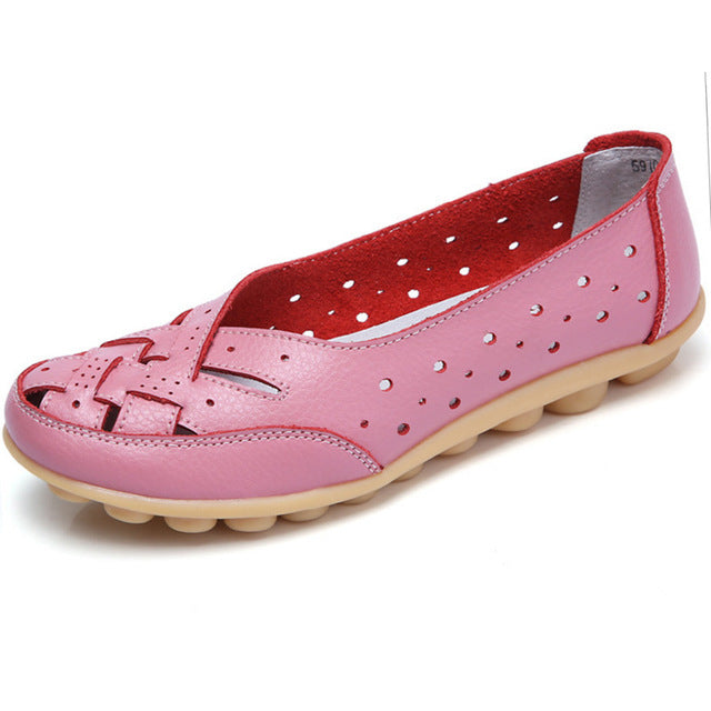 Pink Summer Breathable Lattice Nodule Shoes